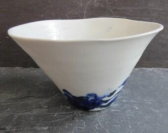 Handmade Porcelain Bowl, Ceramics Handmade, Hand Thrown Ceramic Bowl, Handmade Bowl, Blue and White Handmade Bowl, Small Ceramic Bowl