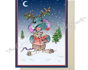 Christmas, Christmas card, greeting, happy, gifts, card card card mouse