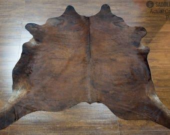 cowhide rugs dark brindle bedroom pelt brazilian large 7u0027
