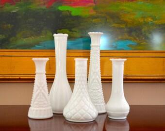 Milk Glass Bud Vase Milk Glass Vase Vintage Milk Glass White Vase Wedding, Milkglass Budvase, Milk Glass Vintage
