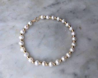 Vintage real pearl bracelet Etsy