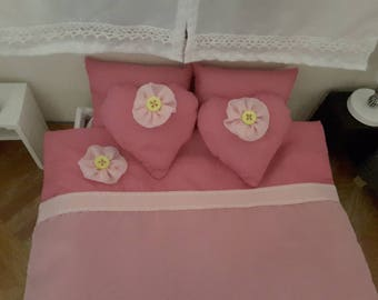 1/6 scale barbie doll size bedding set for dolls