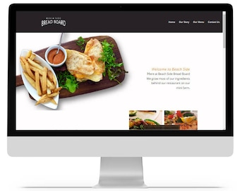 Website Design, Web Design, Custom Website, Restaurant Website, Food Website, website template