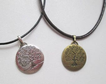 Pendant, celtic, tree of life, man, woman, viking necklace, silver, bronze, spain, wedding gift, anniversary