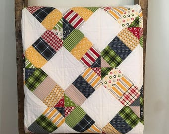 throw size quilt - kids bedroom decor - kids quilts - blanket - throw blanket - lap quilt - handmade quilts throws - lap quilt throw
