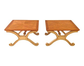 Heritage Hollywood Regency Side Tables - Pair