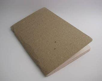 Handmade stapled notebook A5 size, set of two notebooks, grey paper notebook, sketcbook