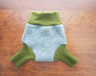 Newborn (0-3 Months) Wool Diaper Cover with Extra Soaker Layer