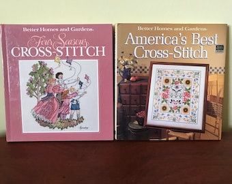 Two Better Homes and Gardens Cross-Stitch Books