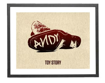 Toy Story Andy's Boot Disney Minimalist Poster