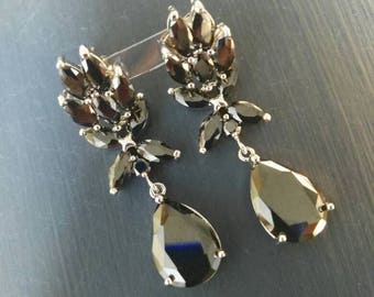 Earrings. Zirconiom. Gold plated. Rainbow Jewelry.
