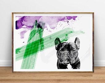 Dog Wall Art, Dog Photography, Dog Pop Art Print, Dog Poster, Digital Print, Printable Art, Digital Download, Instant Download Printable Art