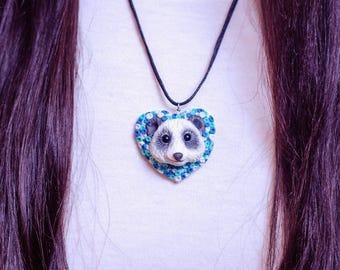 panda pendant art toy miniature animals