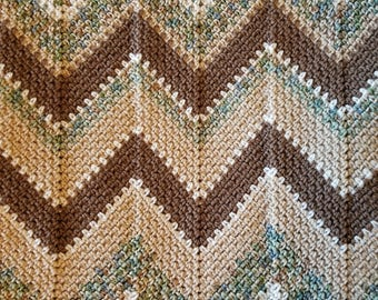 Sage Waves Crochet Ripple Afghan