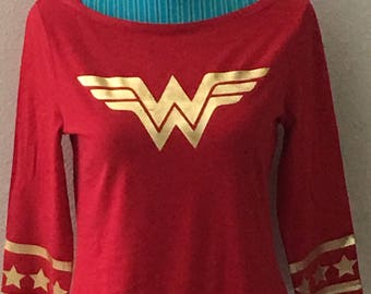 Wonder woman T-shirt 3/4 sleeve