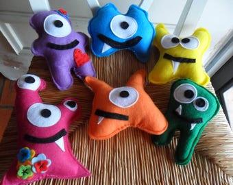 15 Little Monster Dolls  Monster Party Favors Birthday Party Favors