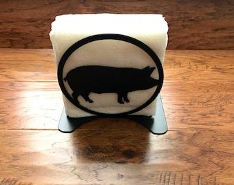 Pig Napkin Holder /  BBQ Napkin Holder / Grilling Napkin Holder /  Outdoor Napkin Holder/  Mail Holder