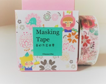 Kawaii washi tape, masking tape, washi tape, decorative tape, adhesive tape