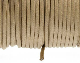 Beige 2.7 mm waxed cotton cord