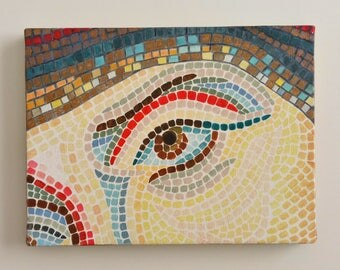 Mosaic Eye - 24x18 cm Oil Painting