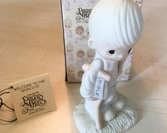 Vintage Precious Moments He Watches Over Us All Figurine E-3105