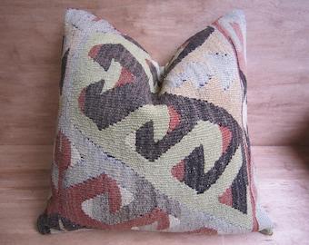 20x20,vintage pillow,kilim pillow,bohemian pillow,home living,home decor,decorative pillow,handwoven pillow,throw pillow,accent pillow