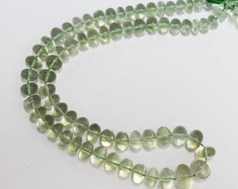 AAA Quality Green Amethyst Smooth Rondelle beads   / 8.0 - 15.0 mm / 18 inch