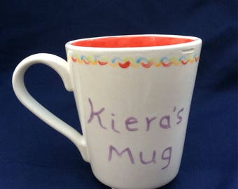 Hand Painted 'Personalised' ceramic mug