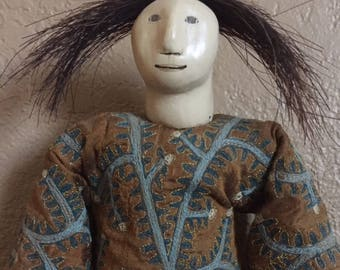 Vintage Charla Khanna Doll, Folk Art Doll, Doll Wall Hanging, Authentic Charla Khanna, Whimsical Vintage Doll, Collectible Primitive Doll