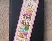 Tea Solves All Cross Stitch Pattern - Instant Download PDF - Vintage Inspired Bookmark
