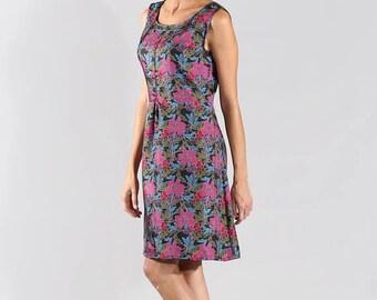 ON SALE Silk dress, summer dress, mini dress, orange dress, night dress, spring dress, elegant dress. Sizes 36 to 44 or Made to measure !