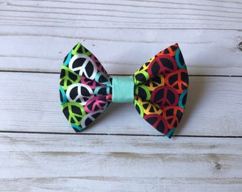 Groovy Peace Dog Bow Tie l Cat Bow Tie l Pet Bow Tie