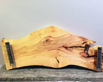 Reclaimed Live Edge Box Elder Serving Tray