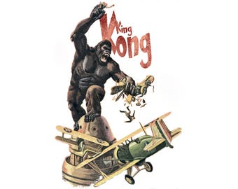 T-SHIRT: King Kong / Battle For The Empire - Classic T-Shirt & Ladies Fitted Tee - (LazyCarrot)