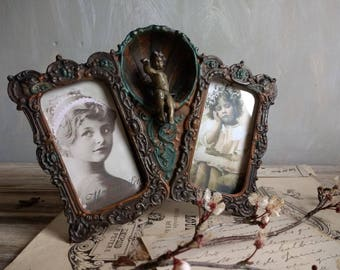 1800s antique victorian Cast Iron  PICTURE FRAME