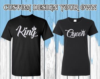 King Queen T Shirt King And Queen Shirt King Queen Tees Valentine Shirt Tees Couple T-shirts Couple Shirt Couple Tees Gift For Couple