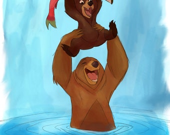 Brother Bear Watercolor Painting
