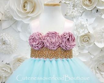 Aqua Flower Girl Tutu Dress-Aqua Tutu Dress-Aqua Tutu Dress.Flower Girl Tutu Dress-Aqua Wedding Tutu Dress-Aqua Birthday
