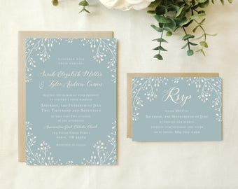 Leafy Branches Wedding Invitation
