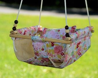 Reversible Yellow Flower Indoor/Outdoor Children's Hammock Swing