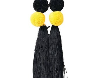 Colour Block Tassels