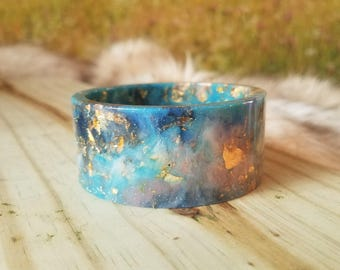 Sky Blue Resin Bangle