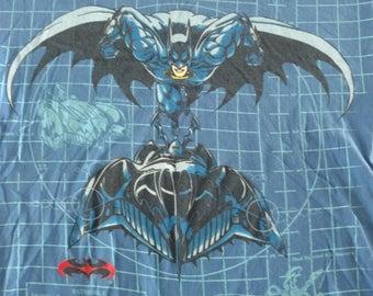 Vintage Batman and Robin blue t-shirt batmobile
