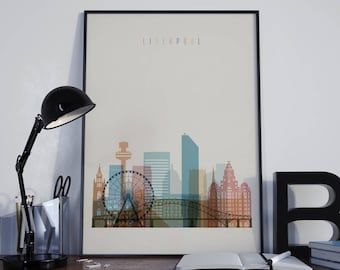 Liverpool Watercolor Liverpool Wall Art Liverpool Wall Decor Liverpool Home Decor Liverpool Print Liverpool Poster Liverpool Photo Unframed