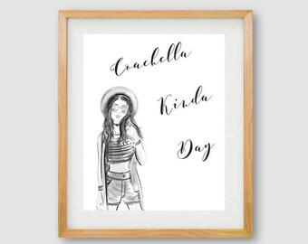 Coachella PRINTABLE, Coachella Wall Art, Coachella Print, Boho Decor, Coachella Quote, Bohemian Print, Hipster Print, Festival Art, Hipster