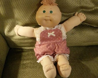 1985 Cabbage Patch Tuft of Hair Green Eyes Vintage