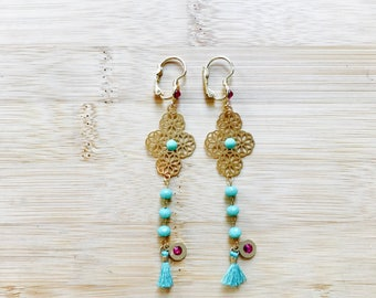 Tassel Earring, Gold Earring, Dainty Earring, Bridesmaid Gift
