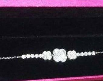 18K WHITE GOLD Bracelet 7.05  gram