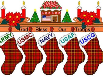 God Bless Our Troops Cross Stitch Pattern***LOOK***
