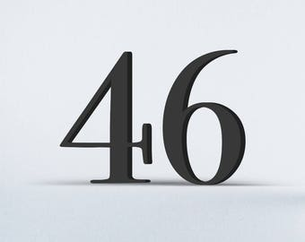 Flat Cut Acrylic House Numbers - Bodoni Book